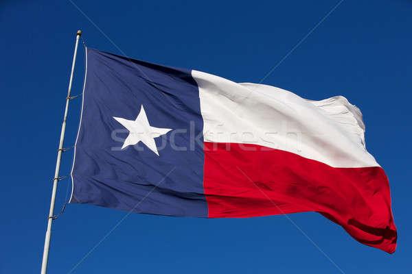 フラグ テキサス州 背景 青 星 ストックフォト © 33ft