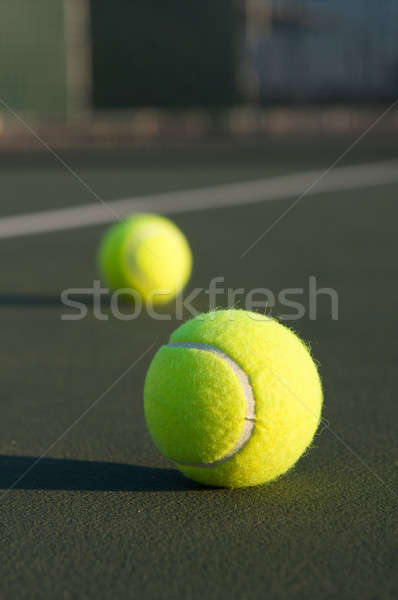 Tennis Balls on the Court Stock photo © 33ft