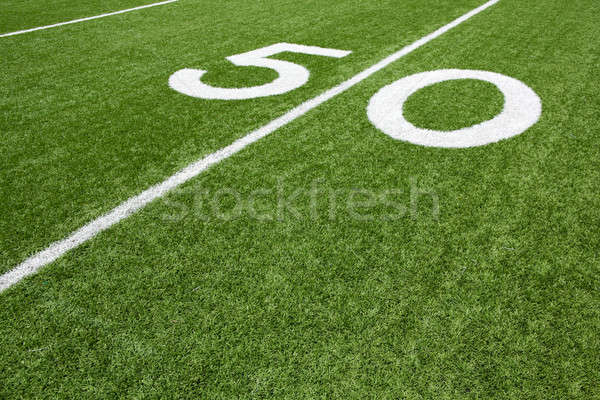 American Football Field Fifty Yard Line Stock photo © 33ft