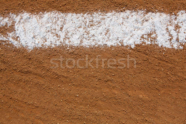 Baseball Infield Chalk Line Stock photo © 33ft