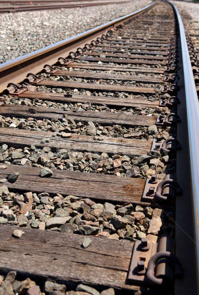 Curving Railroad Track Stock photo © 33ft