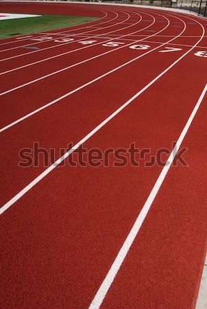 Brano rosso sport esecuzione line Foto d'archivio © 33ft