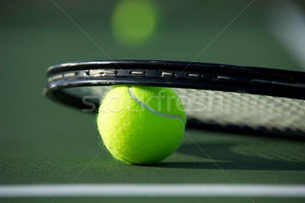 Tennisbal racket kamer kopiëren sport tennis Stockfoto © 33ft