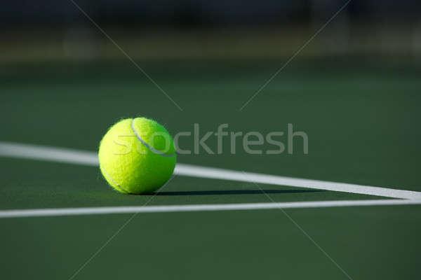 テニスボール 裁判所 スポーツ ボール レジャー 水平な ストックフォト © 33ft