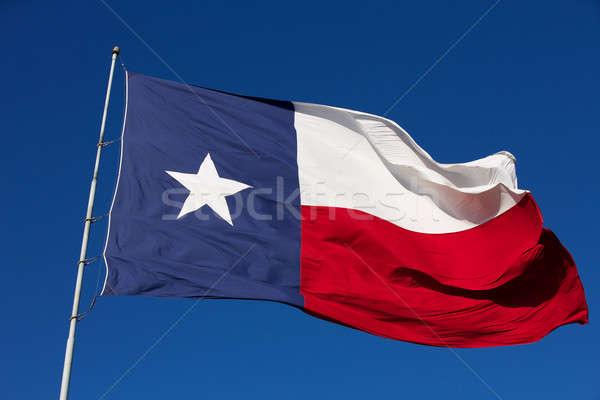 Bayrak Teksas rüzgâr arka plan Stok fotoğraf © 33ft