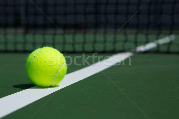 Tennisbal net rechter sport bal Stockfoto © 33ft