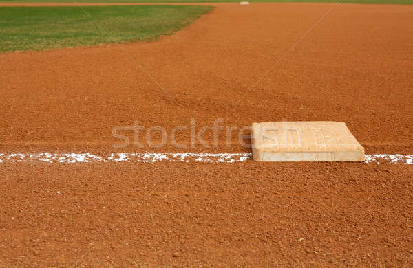 Baseball Field at First Base Stock photo © 33ft