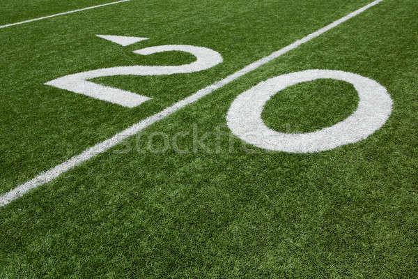 Americano campo de futebol vinte linha grama esportes Foto stock © 33ft