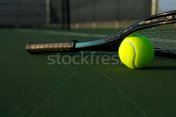 Tennis Ball and Racket Stock photo © 33ft
