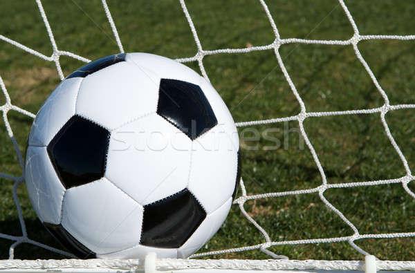 Soccer Ball in the Goal Stock photo © 33ft