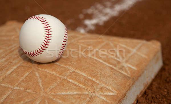 Baseball on the Base Stock photo © 33ft