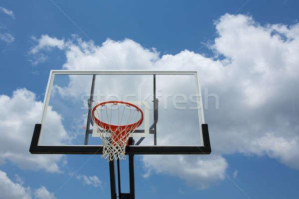 屋外 バスケットボール 曇った 空 スポーツ ストックフォト © 33ft