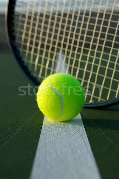 テニスボール ラケット 裁判所 行 スポーツ テニス ストックフォト © 33ft