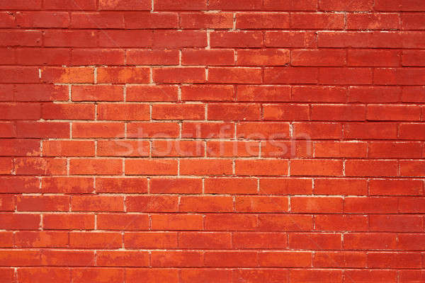 Brick Wall Painted Red Stock photo © 33ft