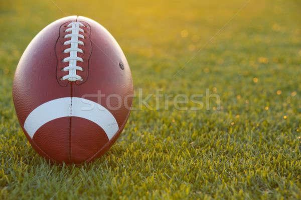 アメリカン サッカー 日没 フットボールの競技場 スポーツ 大学 ストックフォト © 33ft