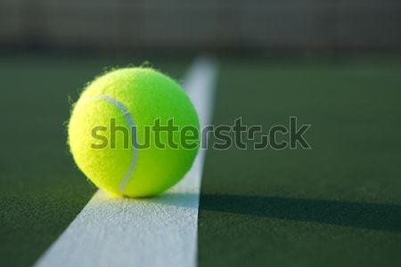 Tennis Ball on the Court Stock photo © 33ft
