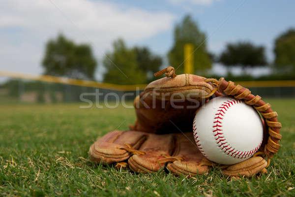 Baseball in a Glove Stock photo © 33ft