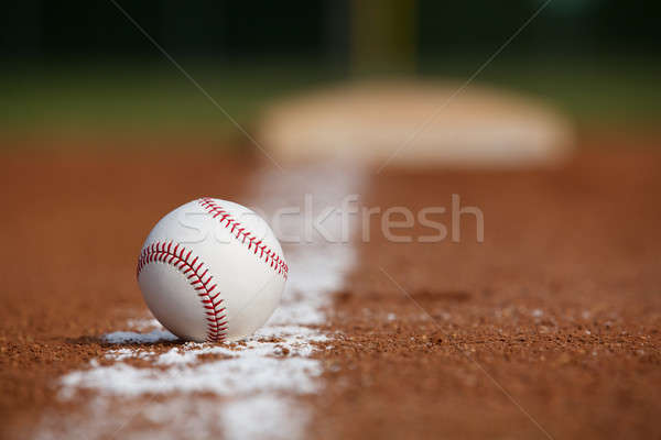 Baseball on the Infield Chalk Line Stock photo © 33ft