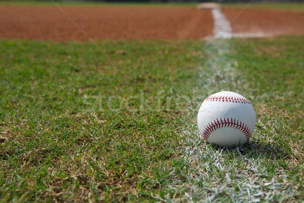 野球 チョーク 行 ボール ストックフォト © 33ft