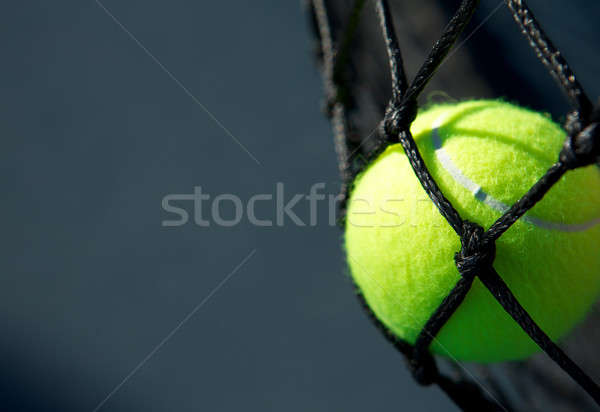 Tennis Ball in the Net Stock photo © 33ft