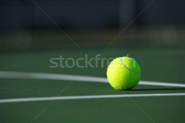 Bola de tênis tribunal esportes bola Foto stock © 33ft