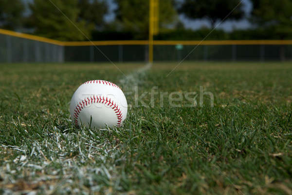 Baseball on the Chalk Line Stock photo © 33ft