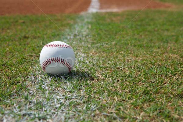 野球 チョーク 行 フィールド ボール ストックフォト © 33ft