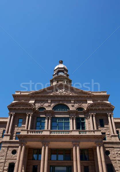 Gerichtsgebäude Festung wert Texas Zimmer Stock foto © 33ft