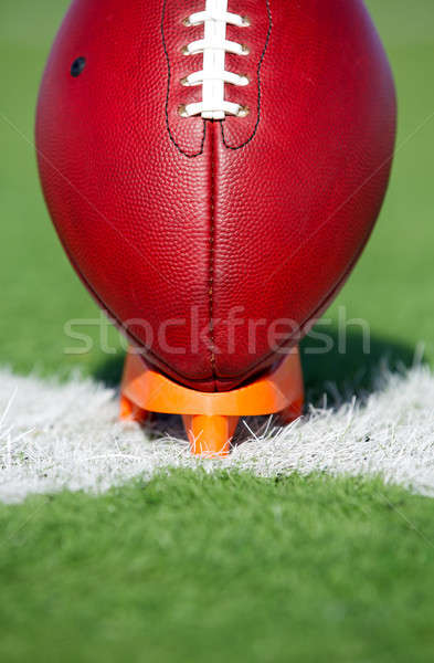 American Football teed up for kickoff Stock photo © 33ft
