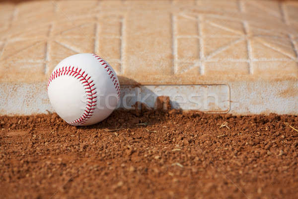 Baseball near Third Base Stock photo © 33ft