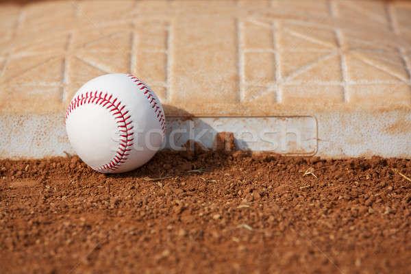 Baseball derde kamer kopiëren veld bal Stockfoto © 33ft