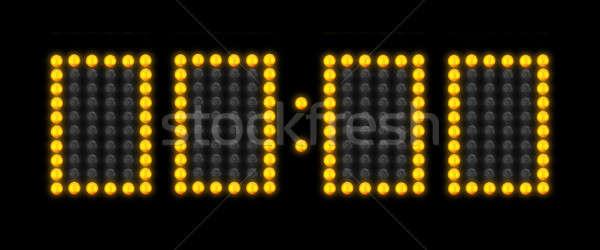 Countdown scorebord klok geen tijd achtergrond Stockfoto © 350jb