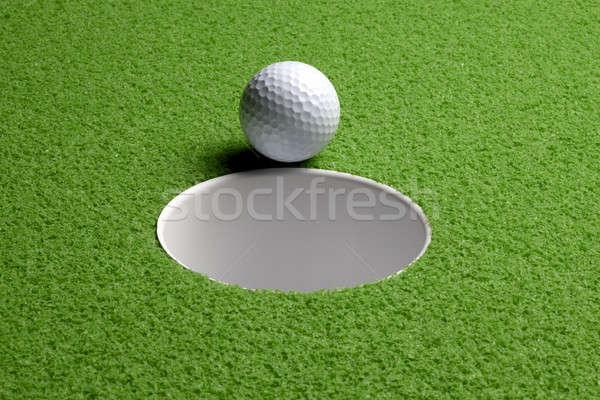 Golfball buraco tiro cair espaço Foto stock © 350jb