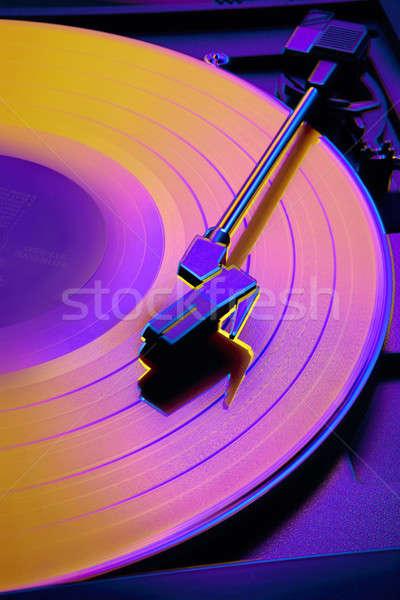 Foto stock: Colorido · toca · disco · cores · tiro · estúdio
