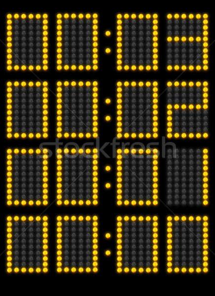 Foto stock: Contagem · regressiva · para · baixo · tempo · jogo · scoreboard · fundo