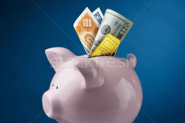 Piggy Bank наличных золото складе Сток-фото © 350jb