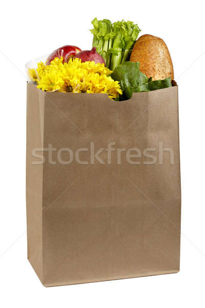Bag of groceries Stock photo © 350jb