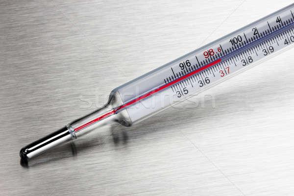 домашнее хозяйство медицинской термометра выстрел стали Сток-фото © 350jb