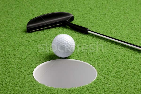 Verde natureza morta golfball buraco esportes clube Foto stock © 350jb