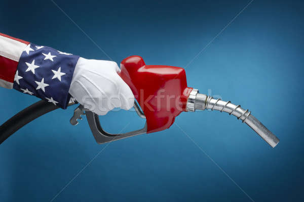 Uncle Sam pumping gas Stock photo © 350jb