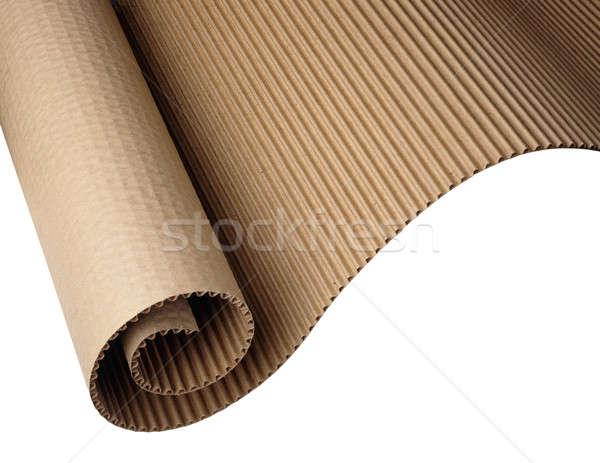 Hullámos papír lövés fehér scan Stock fotó © 350jb