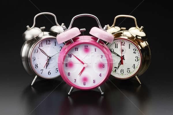 Riasztó órák színes klasszikus lövés tükröződő Stock fotó © 350jb
