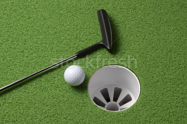 Verde natureza morta tiro golfball Foto stock © 350jb