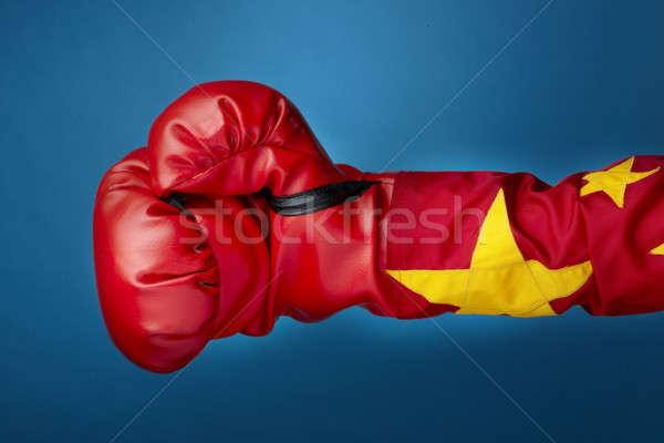 китайский Боксер выстрел руки Сток-фото © 350jb