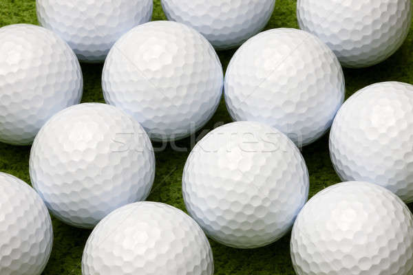 гольф макроса выстрел мяч для гольфа Сток-фото © 350jb