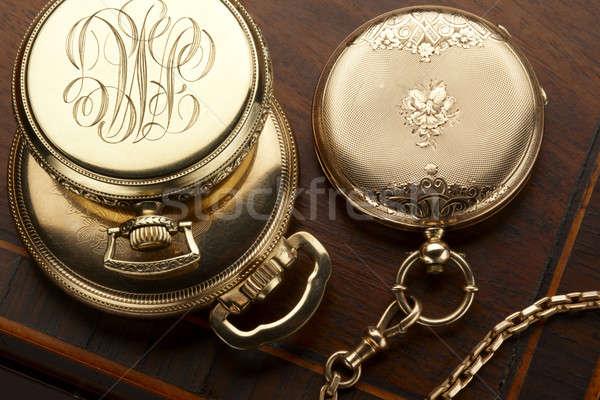 кармана три Vintage золото выстрел Сток-фото © 350jb