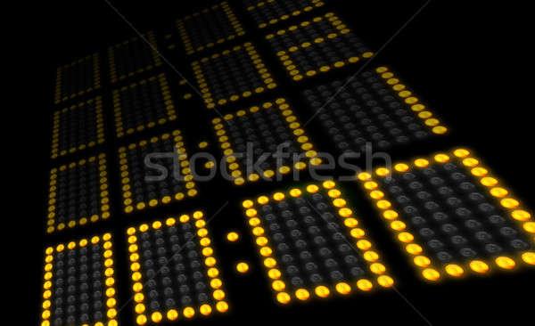 Conto alla rovescia tabellone segnapunti giù tempo gioco sfondo Foto d'archivio © 350jb
