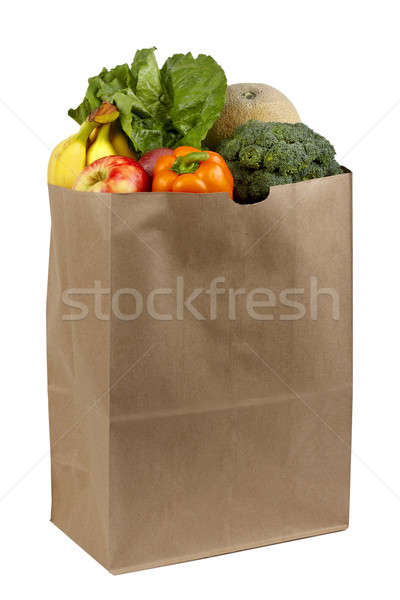 Sac fruits légumes coup papier brun Photo stock © 350jb