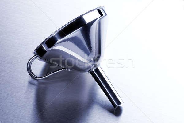 воронка алюминий выстрел нержавеющая сталь поверхность Сток-фото © 350jb