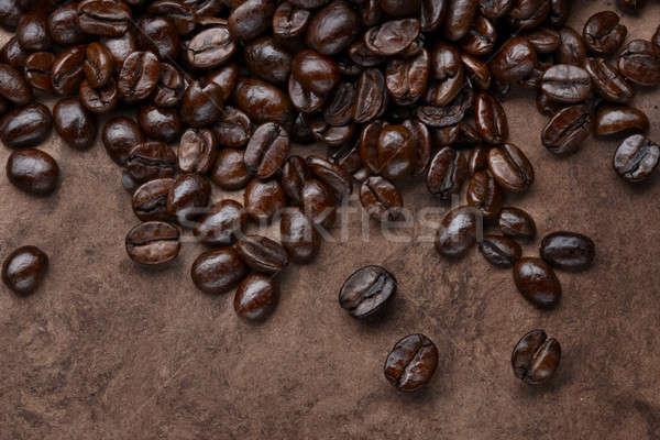 Kávé makró lövés természetes mintázott felület Stock fotó © 350jb